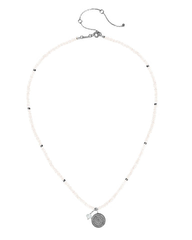 Ether Elements Necklace with Moonstone in Sterling Silver