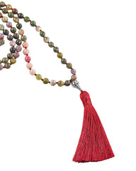 Fearless Self Mala Jasper and Rhodonite