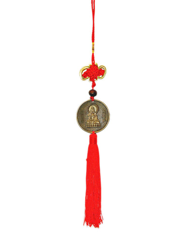 Feng Shui Buddha Coin and Infinity Knot Wall Hanging