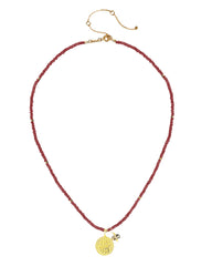 Fire Elements Necklace with Garnet in Gold Vermeil