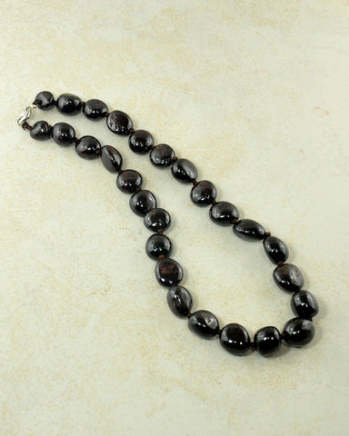 Natural Garnet Large Crystals Necklace