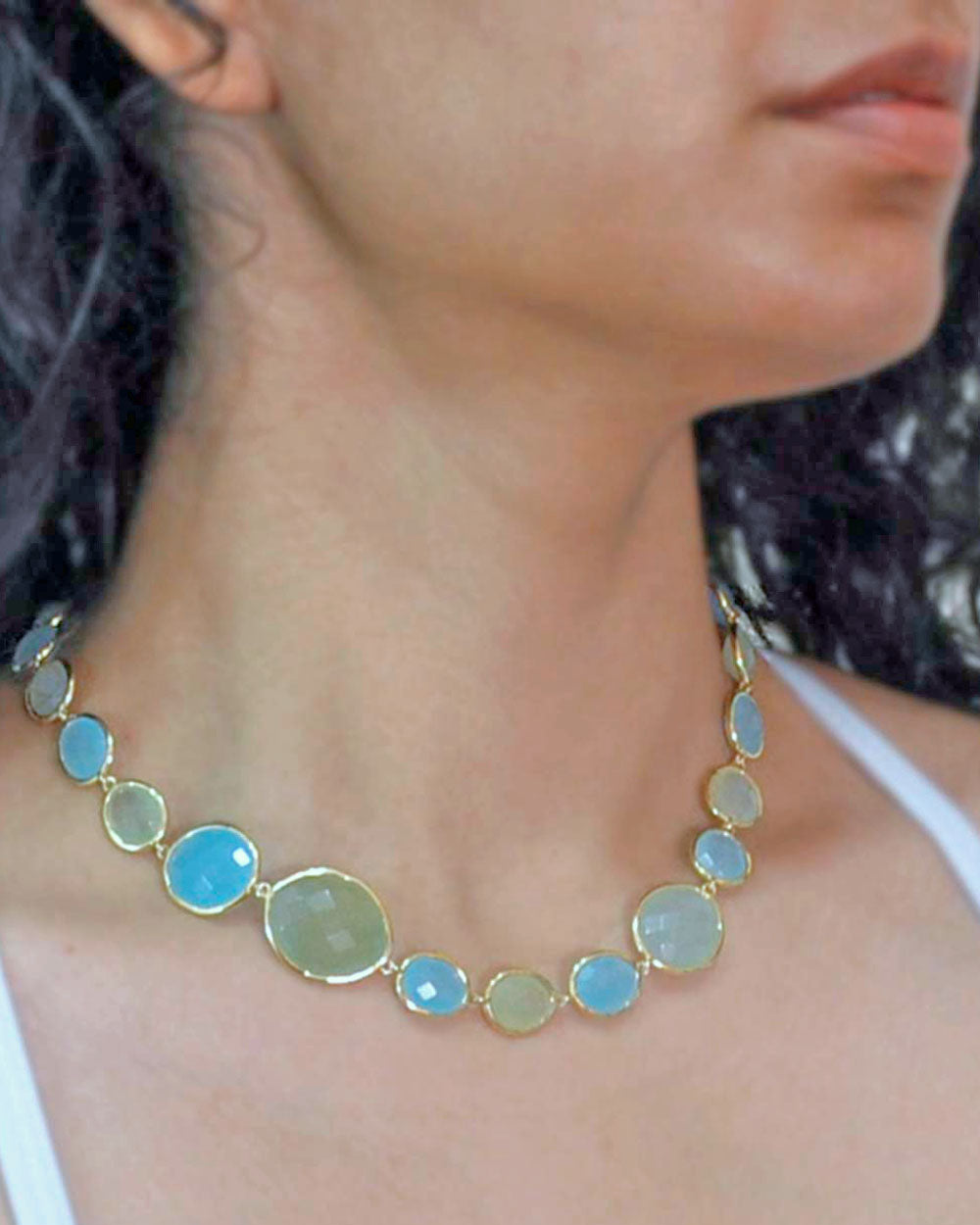 Dew Drops Multi-gem Peruvian Opal Necklace