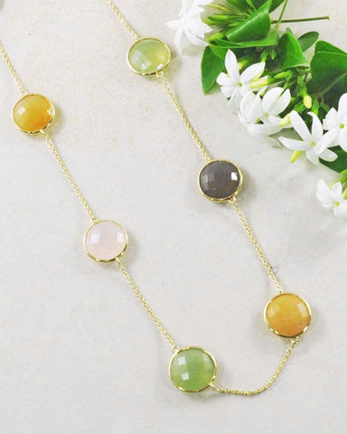 Gem Drops Multi-Gemstone Necklace
