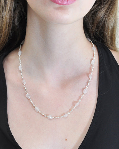 Goddess Moonstone Sterling Silver Necklace