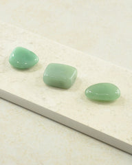 Green Aventurine Tumble Stones - Set of 3