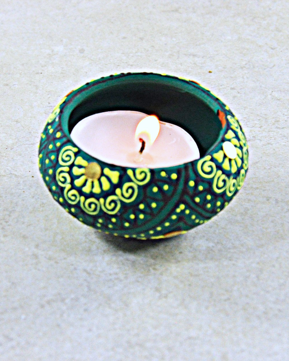 Natural Organic Hand-painted Terracotta Votive