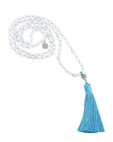 Higher Purpose Mala Aquamarine