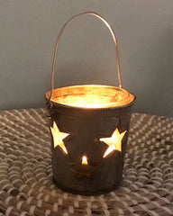 Illuminated Cute Little Glass Candle Holder Votive
