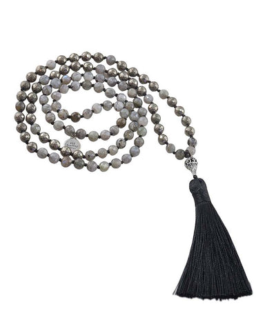 Infinite Potential Mala Labradorite and Pyrite