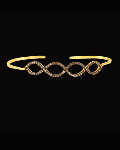 Infinity Champagne Diamonds Hand Palm Bracelet