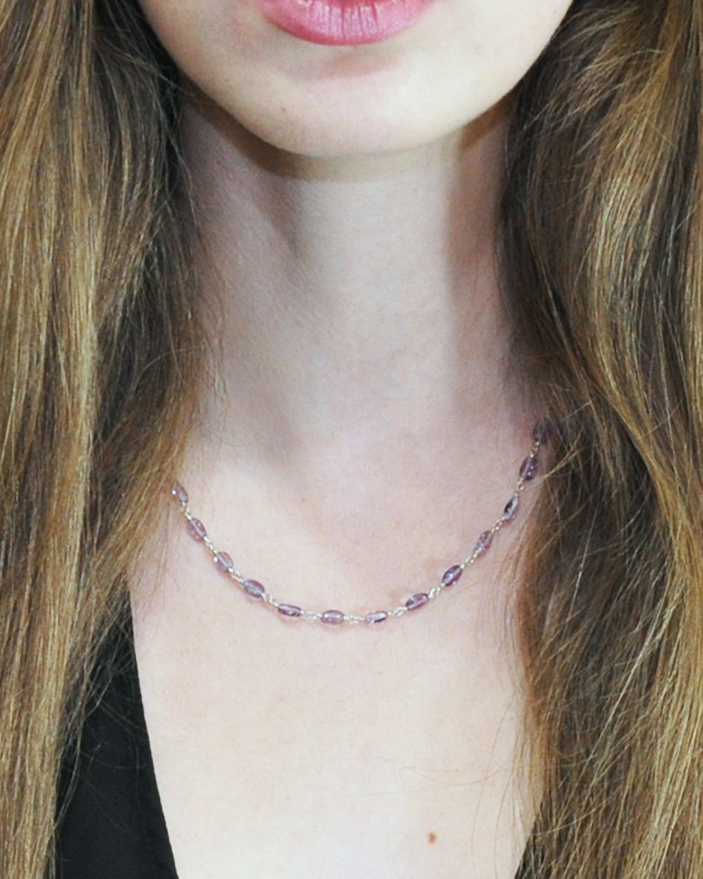 Inner Peace Amethyst Sterling Silver Necklace