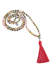 Jasper and Rhodonite Mala Transformation and Healing