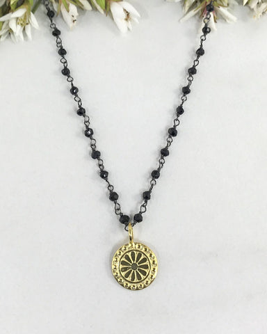 Journey towards Awakening Necklace Gold Vermeil
