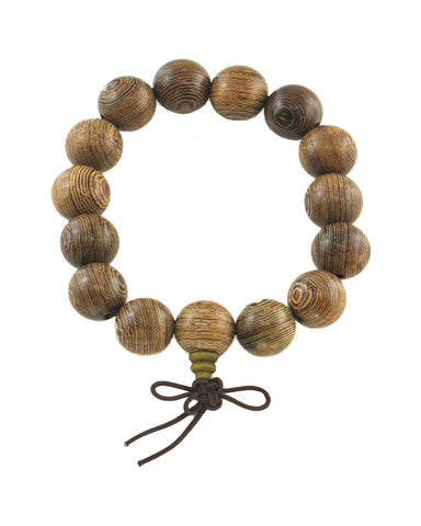 Large Rosewood Beads Meditation Wrist Mala for Men