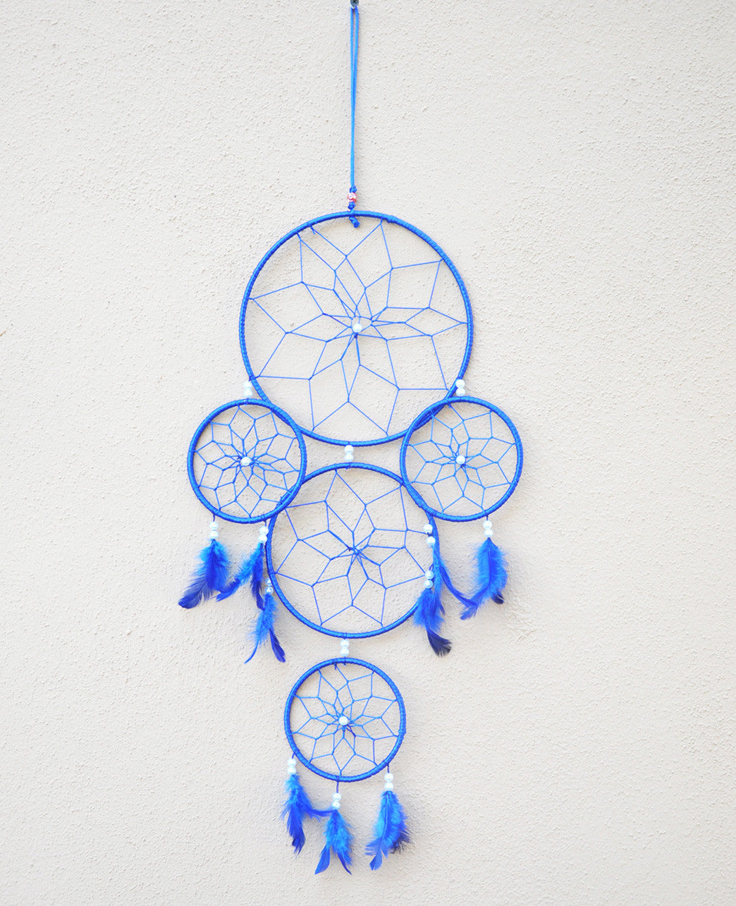 Silk Thread and Feathers Dream Catcher Large - Sivalya