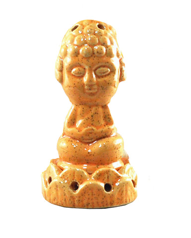 Cute Little Buddha Incense Stick Holder Orange