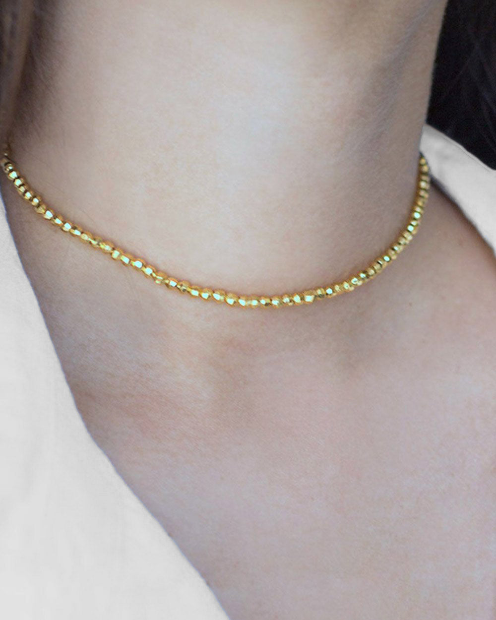 Live by the Sun Necklace Gold Vermeil