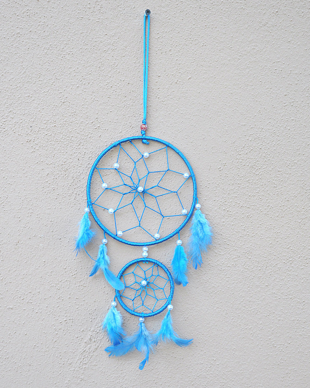 Silk Thread and Feathers Dream Catcher Medium - Sivalya