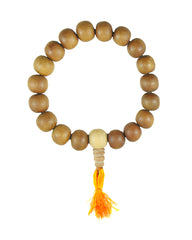 Sandalwood Beads Mens Buddhist Meditation Wrist Mala