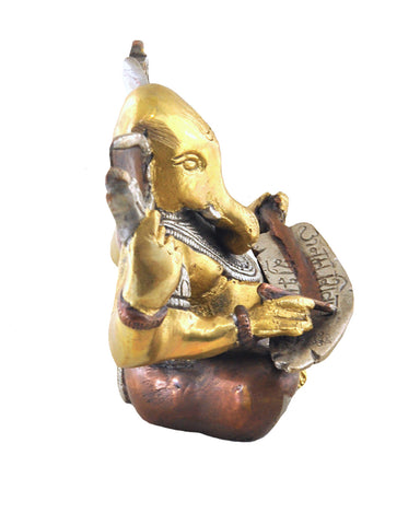 Mighty Lord Ganesha Brass and Copper Statue - Sivalya