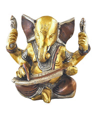 Mighty Lord Ganesha Brass and Copper Statue