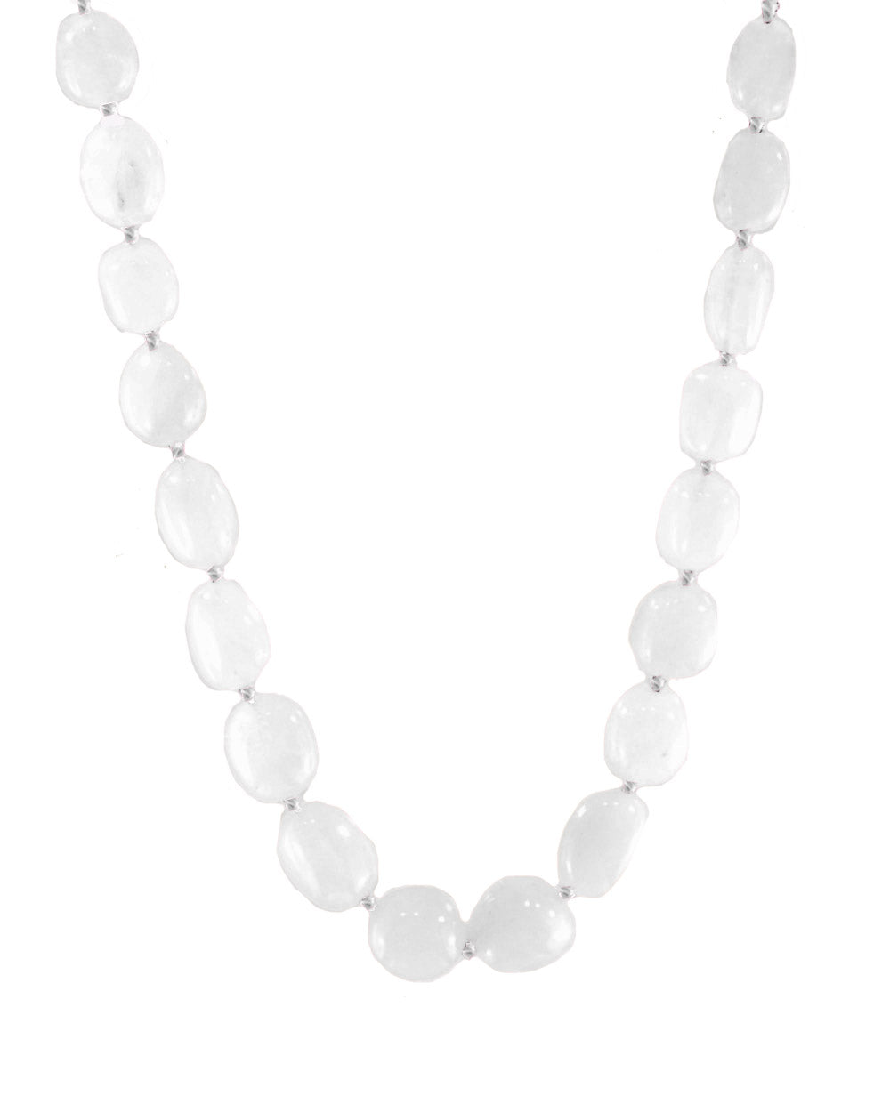 Natural Large White Crystal Quartz Necklace