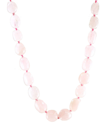 Natural Rose Quartz Large Crystals Necklace