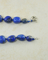 Natural Lapis Lazuli Large Crystals Necklace