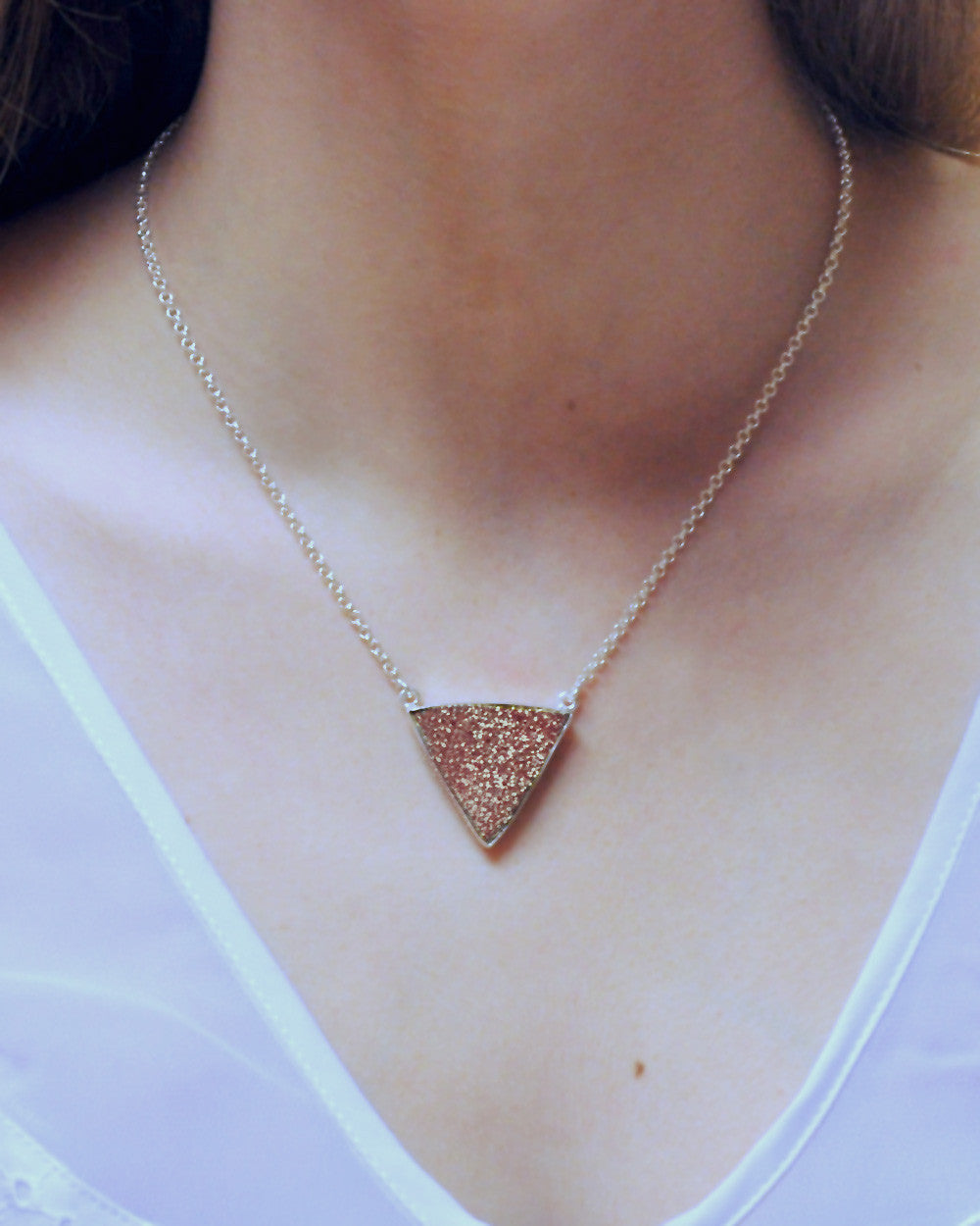 Trilogy Druzy Necklace in Sterling Silver - Sivalya