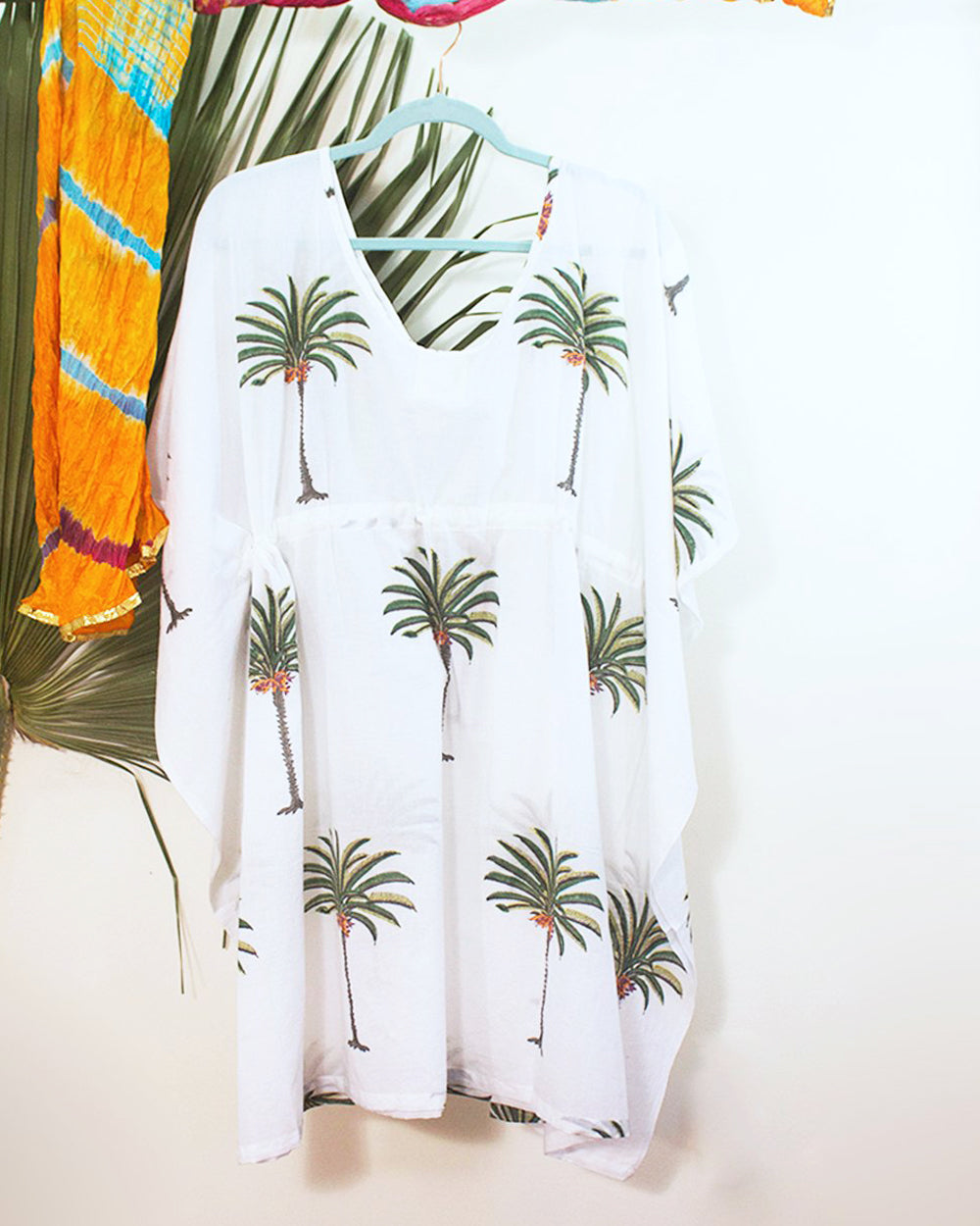 South Beach Organic Cotton Kimono Mini Dress