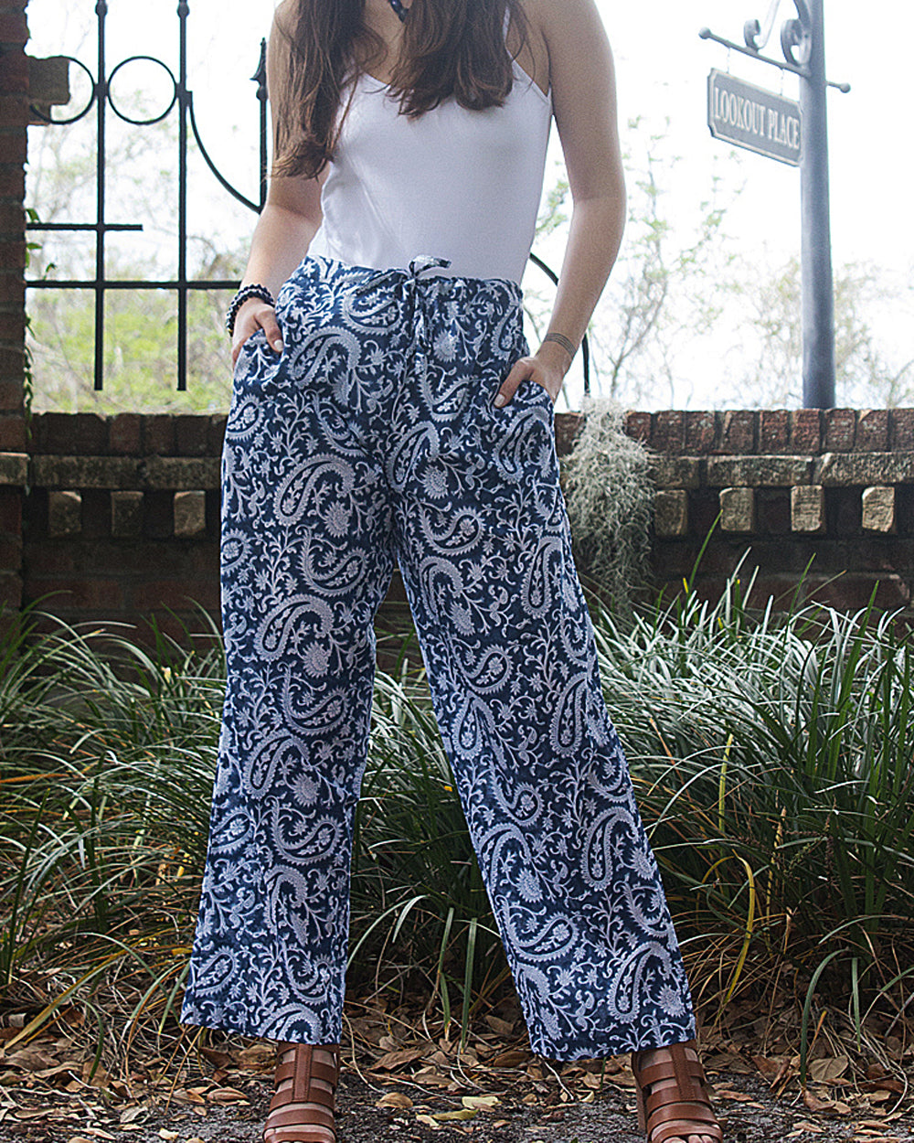 Paisley Fields 100% Organic Cotton Palazzo Pants