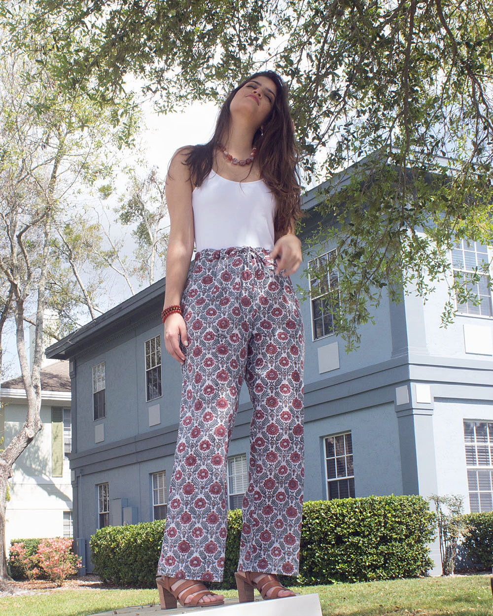 Wildflower Dreams 100% Organic Cotton Palazzo Pants