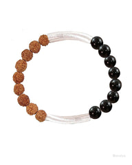 Path to Success Wrist Mala Rudraksha and Black Onyx