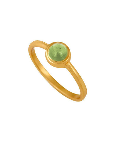 Peridot Pinky Ring in Gold Vermeil