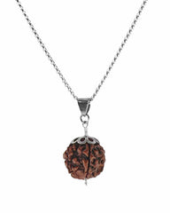 Prana Rudraksha Power Bead Necklace Sterling Silver