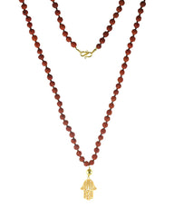 Protection Gold Hamsa and Rudraksha Beads Mala