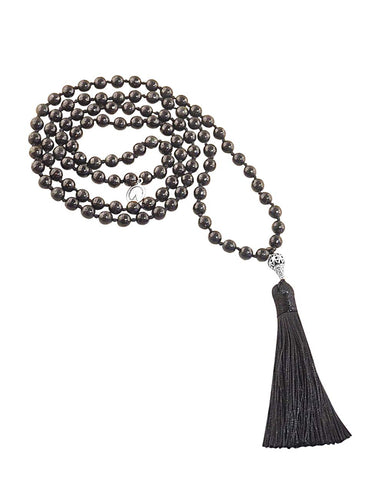 Protective Encouragement Mala Black Obsidian