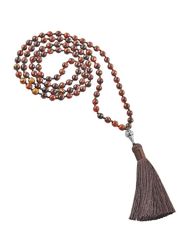 Quiet Strength Mala Tigers Eye