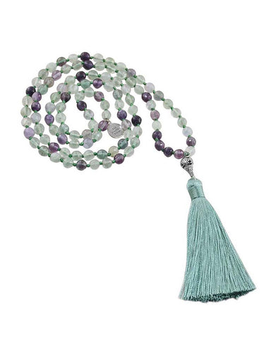 Rainbow Fluorite Mala Fresh Start and Balance