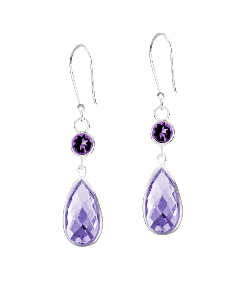 Renewed Self Purple Amethyst Sterling Silver Earrings