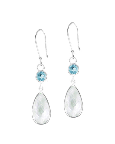 Renewed Self Natural Crystal Quartz Sterling Silver Earrings