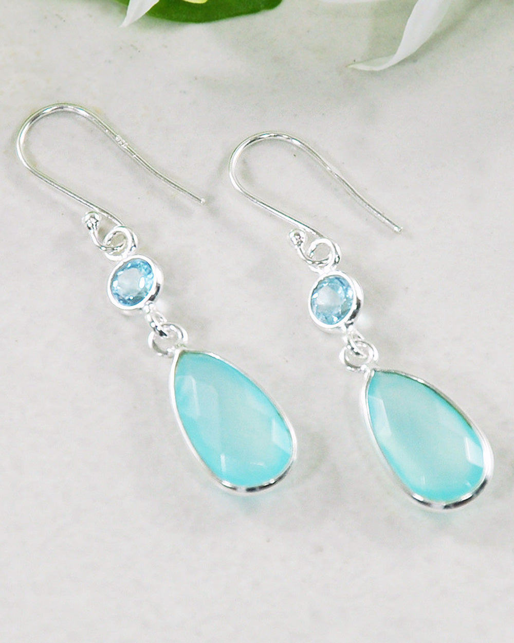 Renewed Self Peruvian Opal Sterling Silver Earrings
