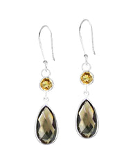 Renewed Self Smoky Quartz Sterling Silver Earrings