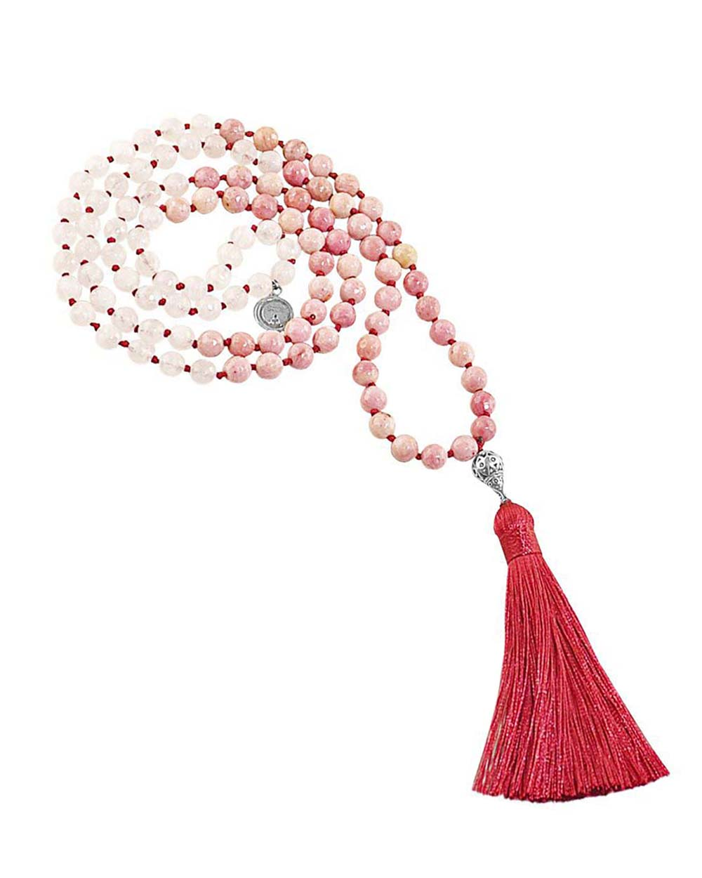Rose Quartz and Rhodonite Mala Inner Healing and Growth