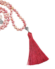 Rose Quartz and Rhodonite Mala Unconditional Love