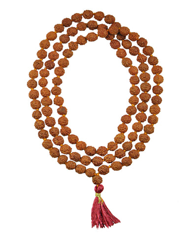 Rudraksha 108 Beads Knotted Meditation Mala