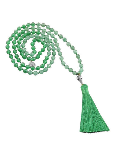 Sacred Insight Mala Green Jade