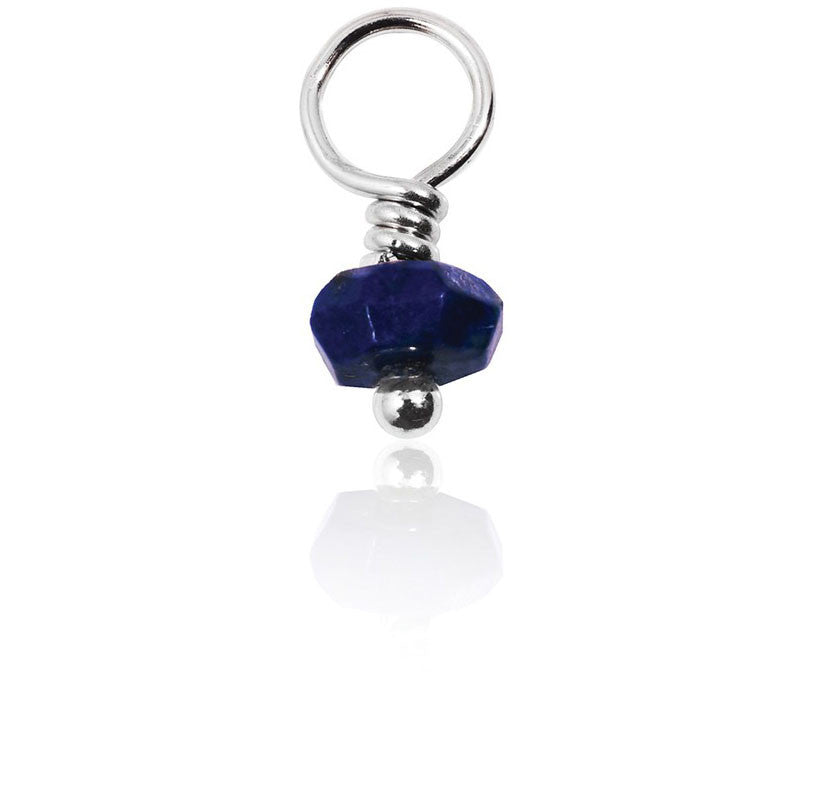 Sapphire Gemstone Charm - Dignity, Love & Protection - Silver Trendz  - 2