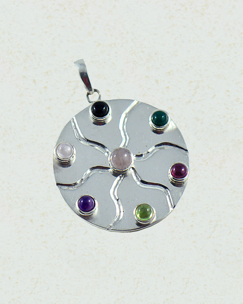 Dharma chakra pendant in sterling silver sivalya dharma chakra pendant in sterling silver aloadofball Gallery