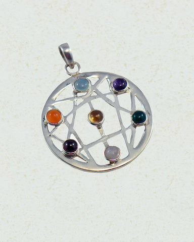 Aura Chakra Pendant in Sterling Silver - Sivalya